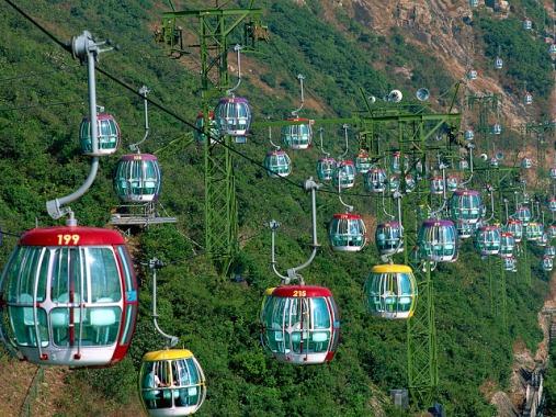 China,Hong Kong,Ocean Park,Gondolas