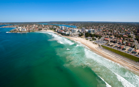 Cronulla beaches, looking south to Bundeena and the Royal National Park