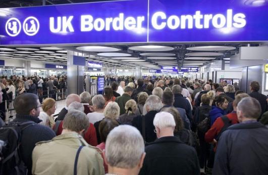 Heathrow - A sea of people