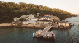Former military buildings Chowder Bay